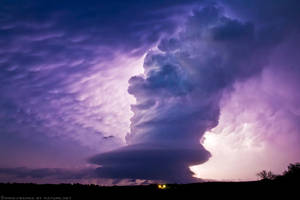 Silhouetted Supercell by FramedByNature