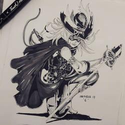 inktober day 6 ''sword'' by WinterDoorBell-zhun
