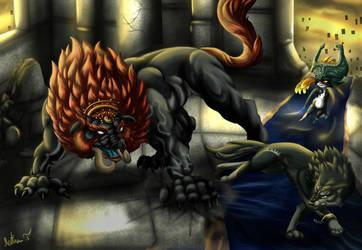 Dark Beast Fight by Irete