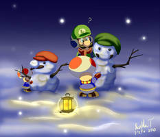 Two Snowmen by Irete