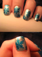 baby it's cold outside nails by xtheungodx