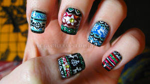 christmas sweater nails by xtheungodx