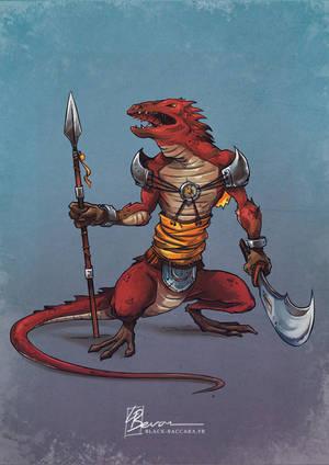 IT lizardwarrior by laurabevon by LauraBevon