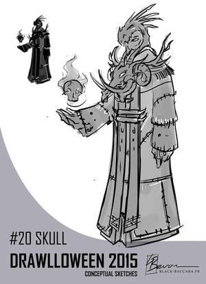 DH20 skull by laurabevon by LauraBevon