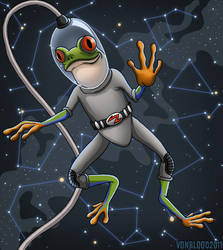 Space Frog by vonblood