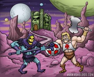 He Man vs Skeletor by vonblood