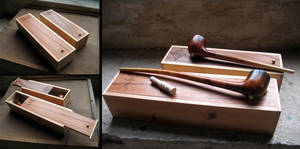 Fantasy pipes with cases by Arcangelo-Ambrosi