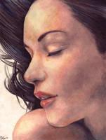 Portrait in Colored Pencil by GraphiteGirls