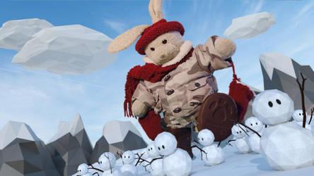 I'm SO SICK of SNOW!! by zackaryrabbit