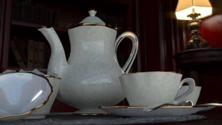 White China Tea Pot by zackaryrabbit