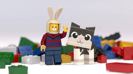 Zack and Boris in lego form! by zackaryrabbit