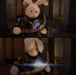 Loki and his sceptre by zackaryrabbit