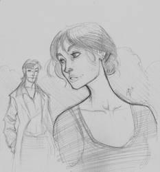 Elizabeth and Darcy by DaveJorel