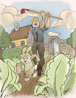 Peter Rabbit - Escaping Mcgregor's Garden by DaveJorel