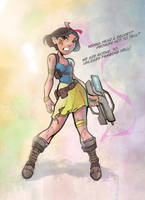 Snow White - Post Apocolypse by DaveJorel