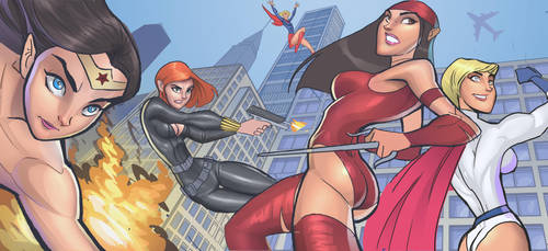Super Girls by DaveJorel