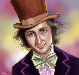 Willy Wonka - Gene Wilder by DaveJorel