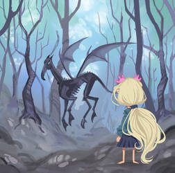 Luna and Thestral by DaveJorel