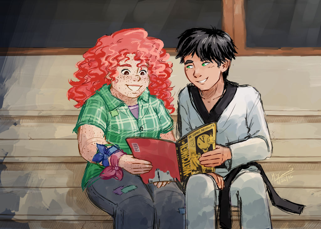reading together eleanor n park by koizumi marichan on deviantart