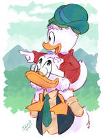 Father-son moment - Life n Times of Scrooge McDuck by Koizumi-Marichan