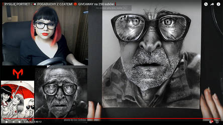 Portrait in progress. Live stream screenshoot by yo-shi-ko