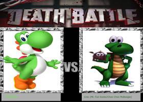 Death Battle Idea - Yoshi vs. Croc by xFlowerstarx