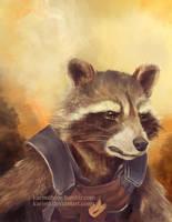 Rocket Raccoon by KarimT