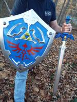 Hylian Sword and Shield by finaformsora