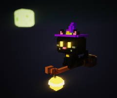 Day 7 - Witch Cat by wanyo