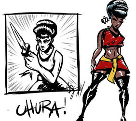 Uhura of Star Trek SOTD by ADE-doodles