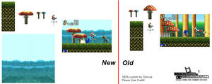 Mushroom Hill Stage Sprites[Sonic Advanced] by marvinvalentin07