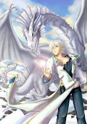 silver dragon by Ckathexis