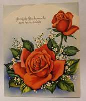 Vintage German Birthday Card 1 by kibbecat