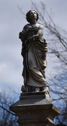 Riverside Graveyard Statue 2 by kibbecat