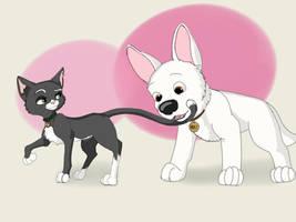 Bolt the Superdog - Mittens by BlueWolf222