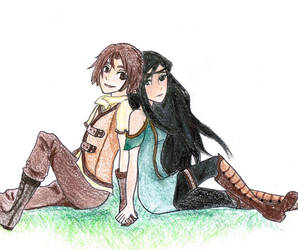 Arya and Eragon by Melody-in-the-Air