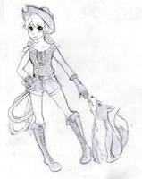 Cowgirl and her Loyal Dog by Melody-in-the-Air