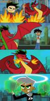 Danny Phantom vs American Dragon by mayozilla