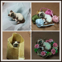 LIttle Kitty Collage by Teensyweensybaby