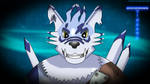 Weregarurumon's Grin by BlueMario1016
