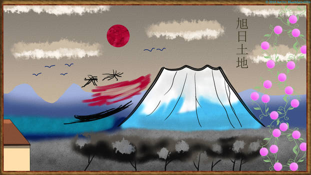 Painting of the Rising Sun's Land by BlueMario1016