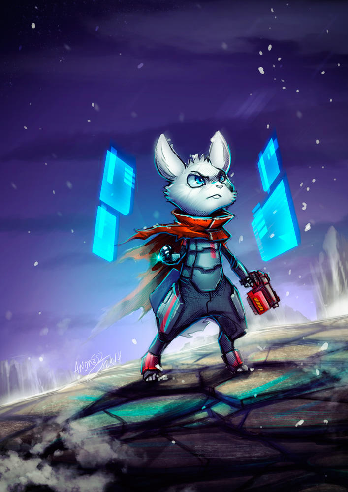 Sci-fi Bunny by Kiaun