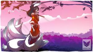 9 Tails White Fox [Raffle Prize] by Kiaun