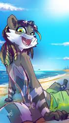 Raku at the beach by Kiaun