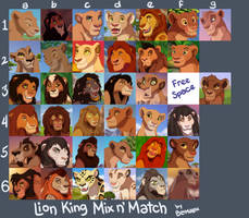 TLK-Themed Mix n' Match Adoptables [OPEN] by Blumalou