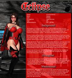Superheroine Fact Sheet: Eclipse by burritorat2