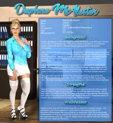 Superheroine Fact Sheet: Daphne McAlester by burritorat2