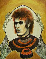 Feathers and Fishnet: Bowie by modastrid