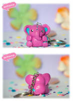 Kawaii Pink Elephant by arihoma