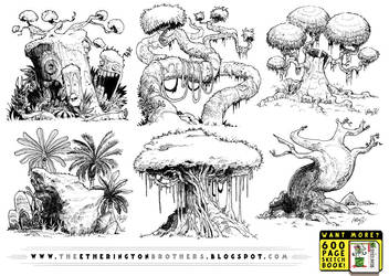 6 really big tree concepts by STUDIOBLINKTWICE